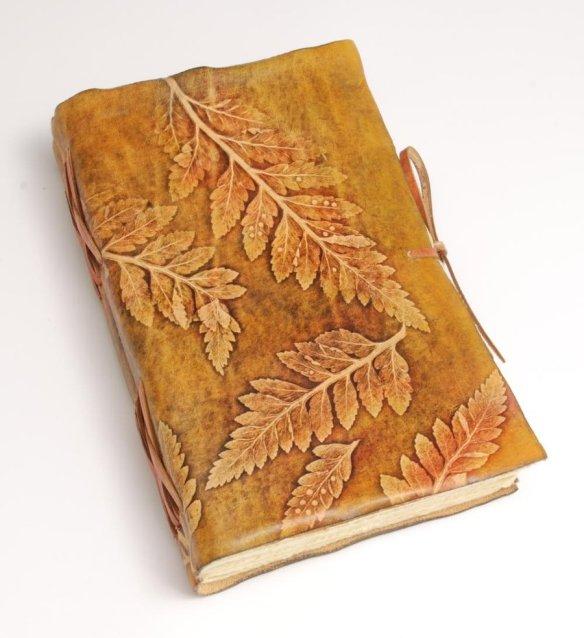 leaves_journal_by_gildbookbinders